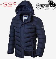 Мужская зимняя куртка на меху Braggart Aggressive - 2620#2619 синий, фото 1