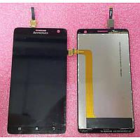 Дисплей модуль Lenovo S856 в зборі з тачскріном чорний
