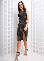 Платье из люрекса с разрезом на ноге, фото 1
