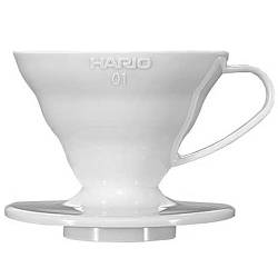 Пуровер Hario пластик V60 01W (VD-01W)