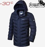Длинные куртки мужские Braggart Aggressive - 2678#2677 синий, фото 1