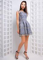Приталенное ажурное платье с пышной юбкой, фото 1