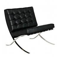Кресло дизайнерское из натуральной кожи Barcelona БАРСЕЛОНА