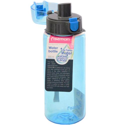 Бутылка для воды Fissman #5 500 мл синяя