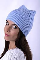 Шапка весенняя бесшовная Наталка 0015Н Женский, голубой