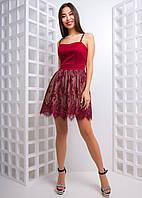 Ажурное платье на бретелях , фото 1