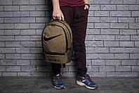 Текстильный коричневый спортивный/городской рюкзак найк (Nike) реплика