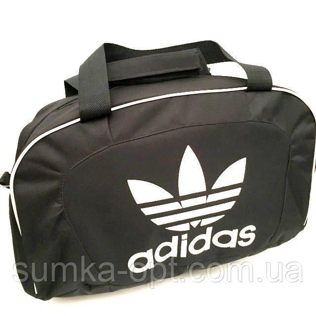 Спортивные дорожные сумки опт Adidas (черный текстиль)25*48