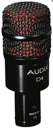 Динамический инструментальный микрофон AUDIX D4 для томы, кахон, джембе, саксофон, тромбон, акустический бас, фото 2