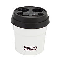 АЗУ REMAX Coffee Cup 3.1A 2USB CarCharger CR-2XP LCD White