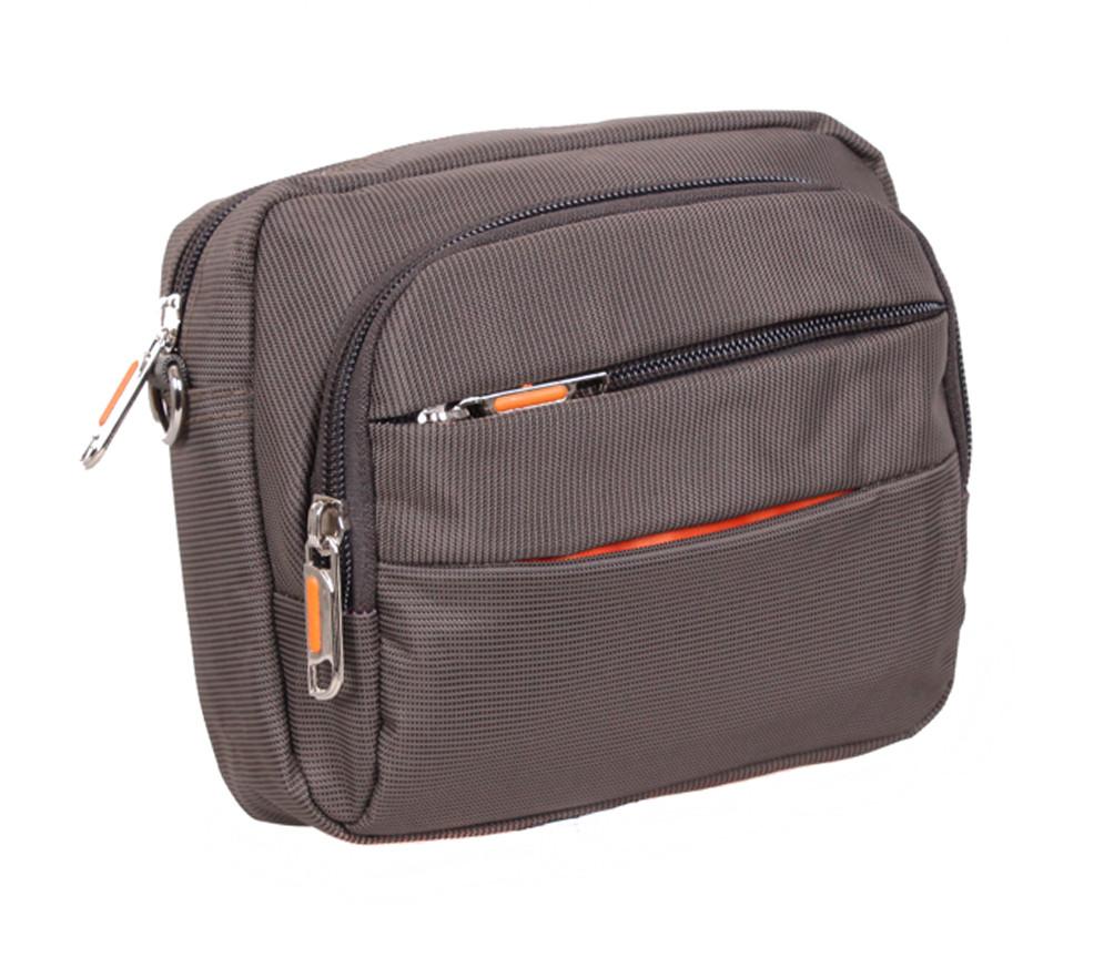 Мужская текстильная сумка S6338-1 серая