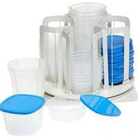 Набор судочков Smart Spin 49 pcs, Контейнеры для еды набор с крышками, Пищевые контейнеры набор