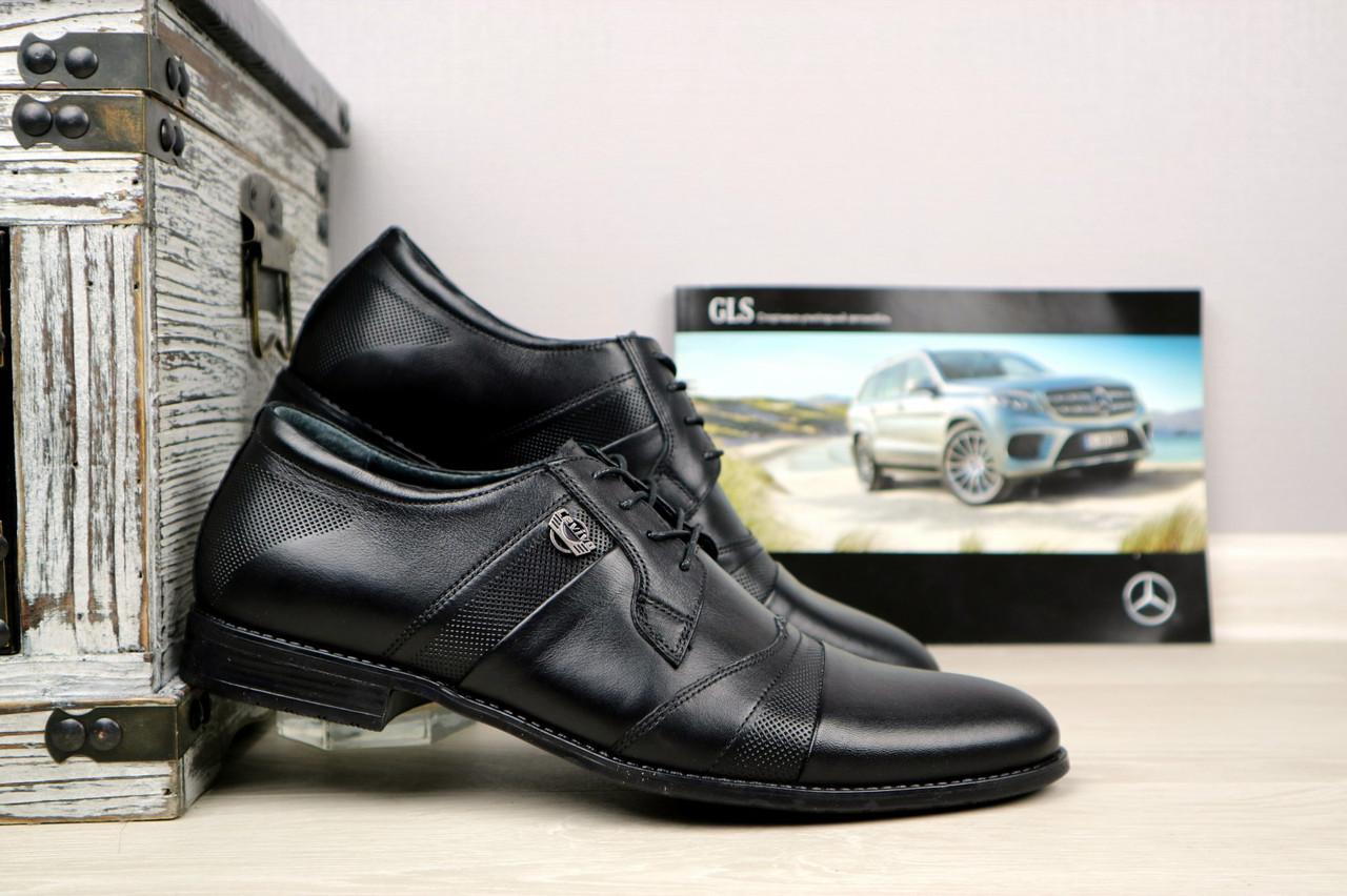 Мужские классические туфли Cevivo (черные), ТОП-реплика