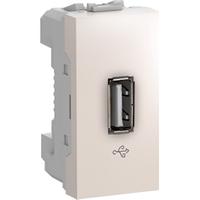 Розетка USB 2.0 1-мод. Слоновая кость Unica Schneider, MGU3.429.25