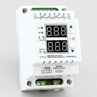 Регулятор температуры и влажности двухканальный в корпусе на DIN-рейку (2 реле 10А) РТРВ-10/D-2