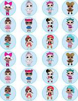 Куклы лол 10 Вафельная картинка