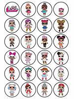 Ляльки лол 20 Вафельна картинка