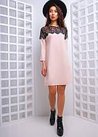 Свободное платье с кружевной вставкой, фото 1