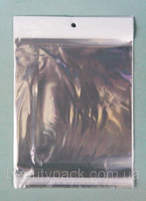 Поліпропіленові пакети з клапаном і еврослотом 16 х17 см / уп-100шт