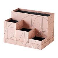 TJENA, подставка для хранения канцелярии, розовая