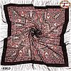 Коричневый павлопосадский платок Княжий, фото 2