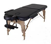 Складной Массажный стол(Черный) MIA Двухсекционный деревянный Доставка бесплатно!!!
