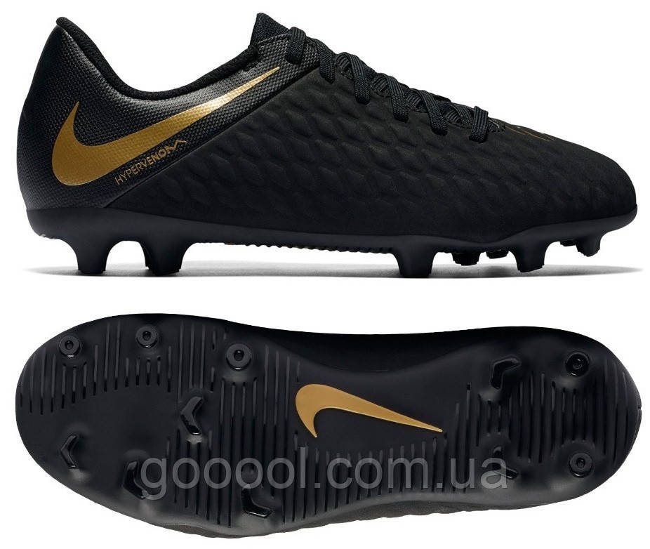 d79cb89c2a51 Детские футбольные бутсы Nike Hypervenom Phantom 3 Club FG Junior  AJ4146-090 - ГООООЛ›