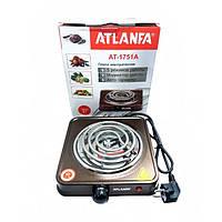 Электроплитка спиральная с 1 конфоркой, защитой от перегрева 1000вт Atlanfa AT-1751A
