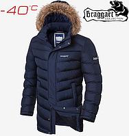 Куртка зимняя удлиненная Braggart Aggressive - 3878#3877 синий, фото 1