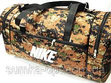 Військові дорожні сумки камуфляж Nike (коричневий)27*53