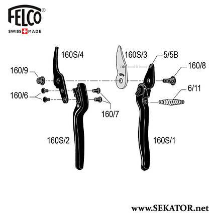 Змінні деталі до секатора Felco 160S, фото 2
