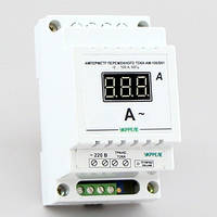 Амперметр переменного тока цифровой на DIN-рейку (100А) АМ-100/D01-В, фото 1