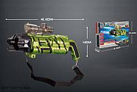 УЦЕНКА-50% Автомат аккум., свет, звук, стреляет вод. пулями, очки, USB-шнур, (ОТБИТ ПРИЦЕЛ)