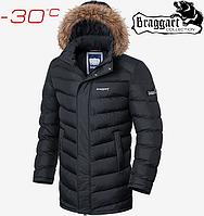 Куртка с мехом Braggart Aggressive - 4278#4277 графит, фото 1