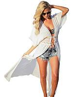 Длинная пляжная туника - кимоно, фото 1