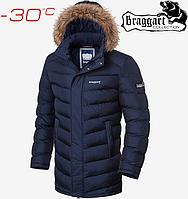 Куртка мужская с мехом Braggart Aggressive - 4278#4277 синий, фото 1