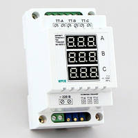 Амперметр переменного тока 3х фазный цифровой на DIN-рейку (100А) АМ-100/D01-3, фото 1