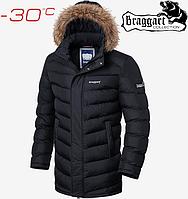 Куртка зимняя с мехом Braggart Aggressive - 4278#4277 черный, фото 1