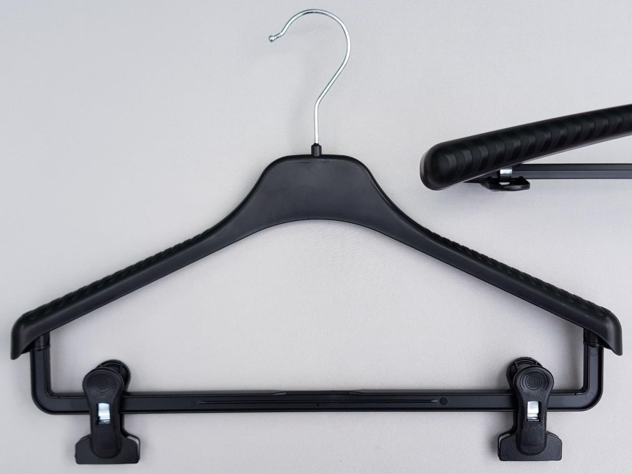 Длина 38 см. Плечики вешалки пластмассовые V-Tz38 черные