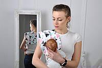 Полотенце для гигиены новорожденного, Цветные треугольники, фото 1