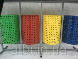 Урна Круглая металлическая для раздельного сбора мусора из 4х ед.