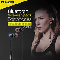 Bluetooth наушники с шумоподавлением для спорта с влагозащитой Awei A990BL