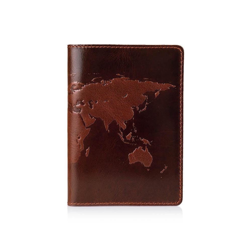 """Обложка для паспорта  Crystal Сognac """"World Map"""""""