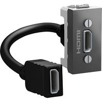 Розетка HDMI 1-мод. Графит Unica Schneider, MGU3.430.12