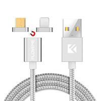 Магнитный шнур Floveme для зарядки 2 в 1 micro USB+iPhone