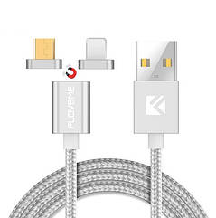 Магнитный шнур Floveme для зарядки 2 в 1 micro USB+iPhone
