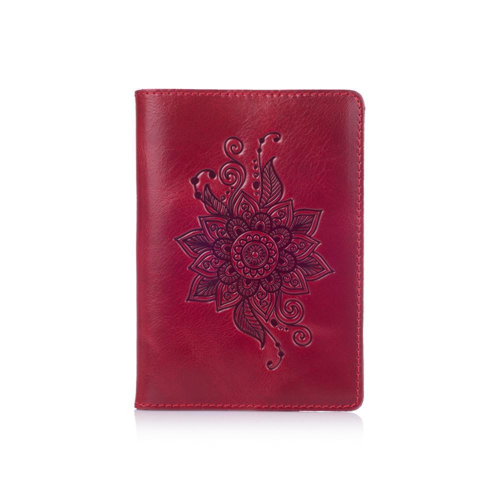 "Обложка для паспорта Crystal Red  ""Mehendi Classic"""
