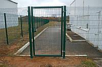 Калитка 1750х1000 мм (2 столба в бетон) оц.+ПВХ универсальное открывание