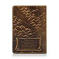 """Обложка для паспорта кожаная с художественным тиснением """"Открытия"""". Цвет рыжий, фото 2"""
