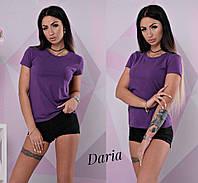 Однотонная женская летняя футболка 32798